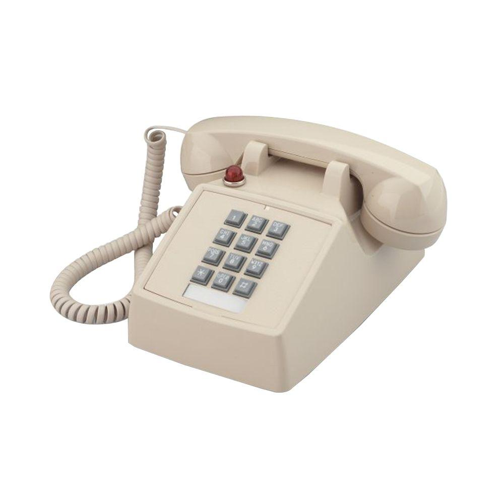 Cortelco Desk Corded Telephone with Message Waiting - Ash