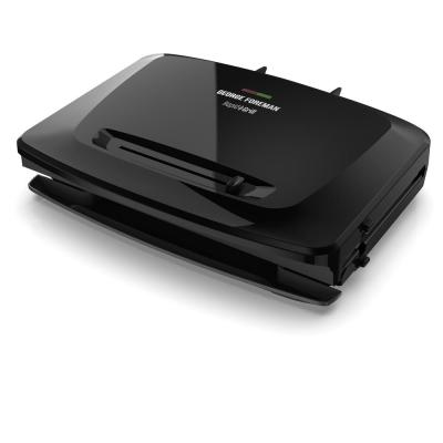 8 Serving Removable Plate Electric Indoor Grill and Panini Press, Black