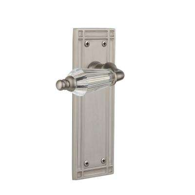 Mission Plate 2-3/8 in. Backset Satin Nickel Privacy Bed/Bath Parlor Lever