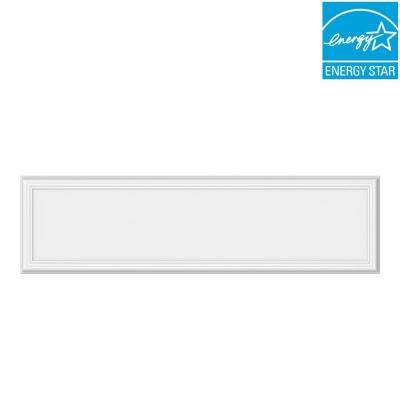 1 ft. x 4 ft. 50-Watt Dimmable White Integrated LED Edge-Lit Deco Panel Ceiling Flushmount Light with Color Changing CCT