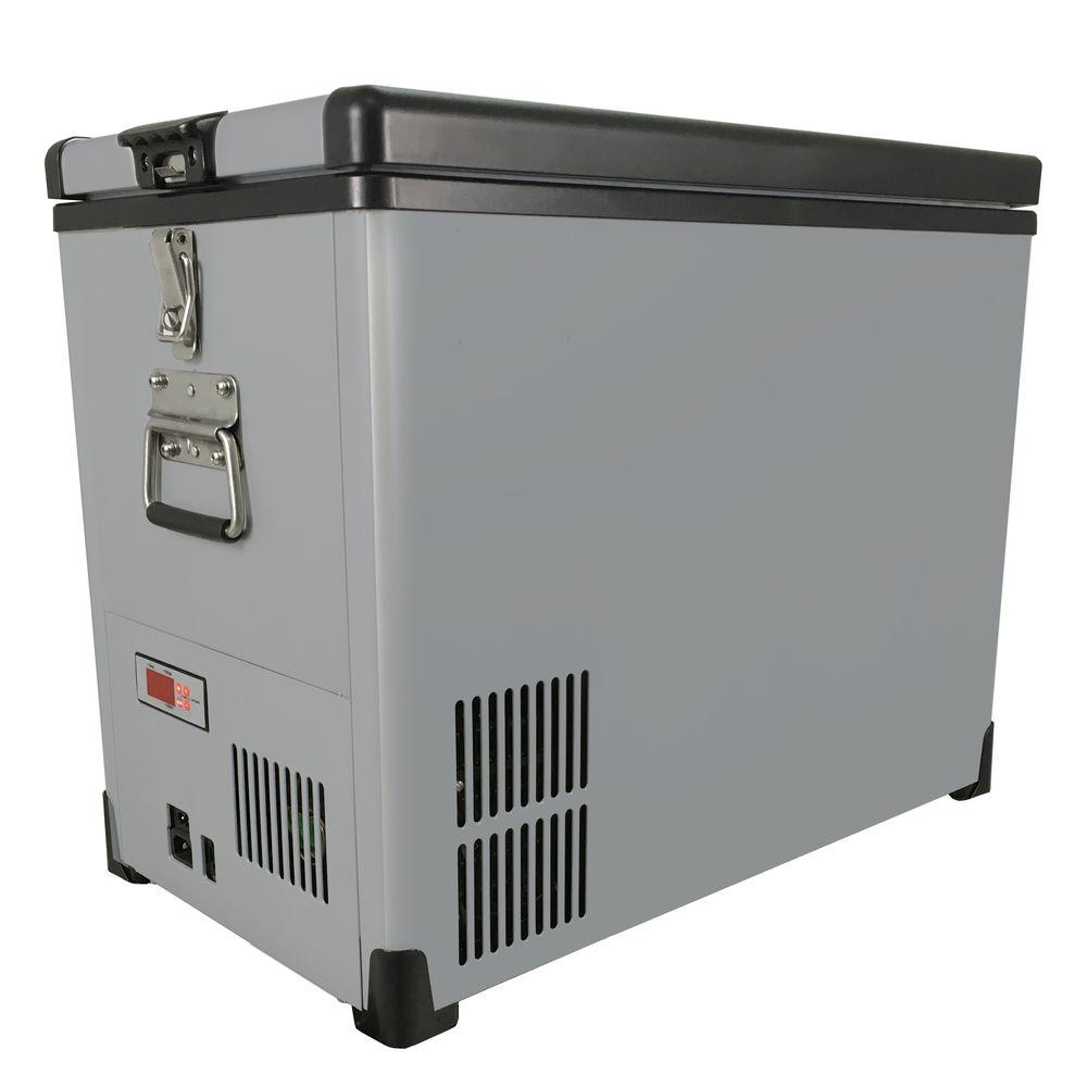 Whynter Elite 45 Qt. SlimFit 1.48 cu. ft. Frost Free Portable Freezer in Gray with 12-Volt Option