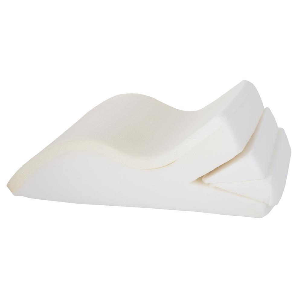 Bluestone Adjustable Leg Wedge Support Pillow With White Cover