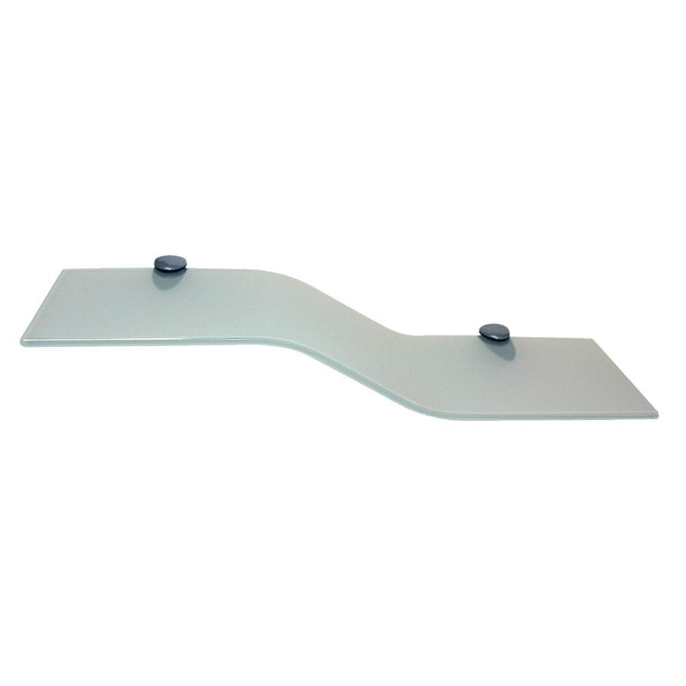 6 in. x 18 in. Opaque Mini Wave Glass Shelf