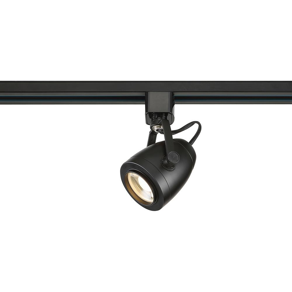 Black Track Lighting Kitchen: Filament Design Black Integrated LED Track Lighting Head