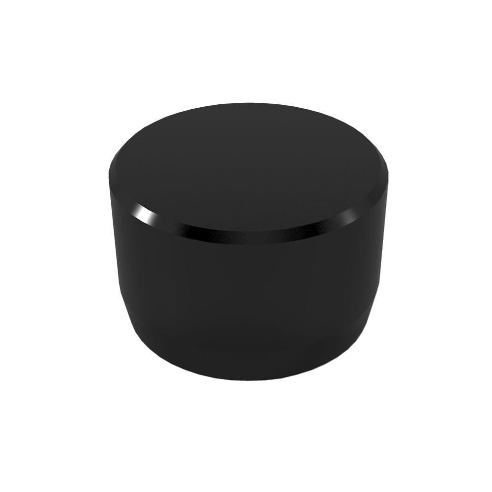 1/2 in. Furniture Grade PVC External Flat End Cap in Black