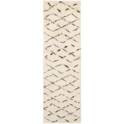 Safavieh Casablanca Ivory/Brown 2 ft. x 12 ft. Runner Rug