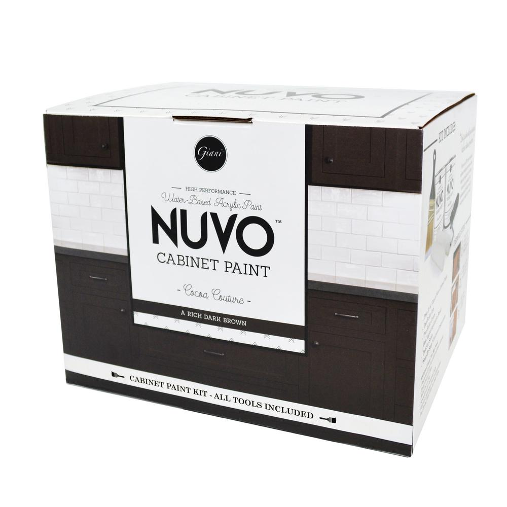 NuVo 2 Qt. Cocoa Couture Cabinet Paint Kit FG NU COCOA R   The Home Depot