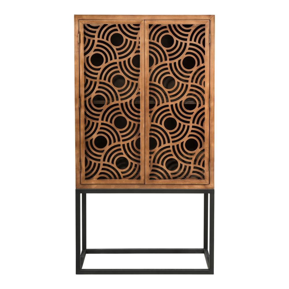 Home Source Walden Wood Metal Two Door Cabinet