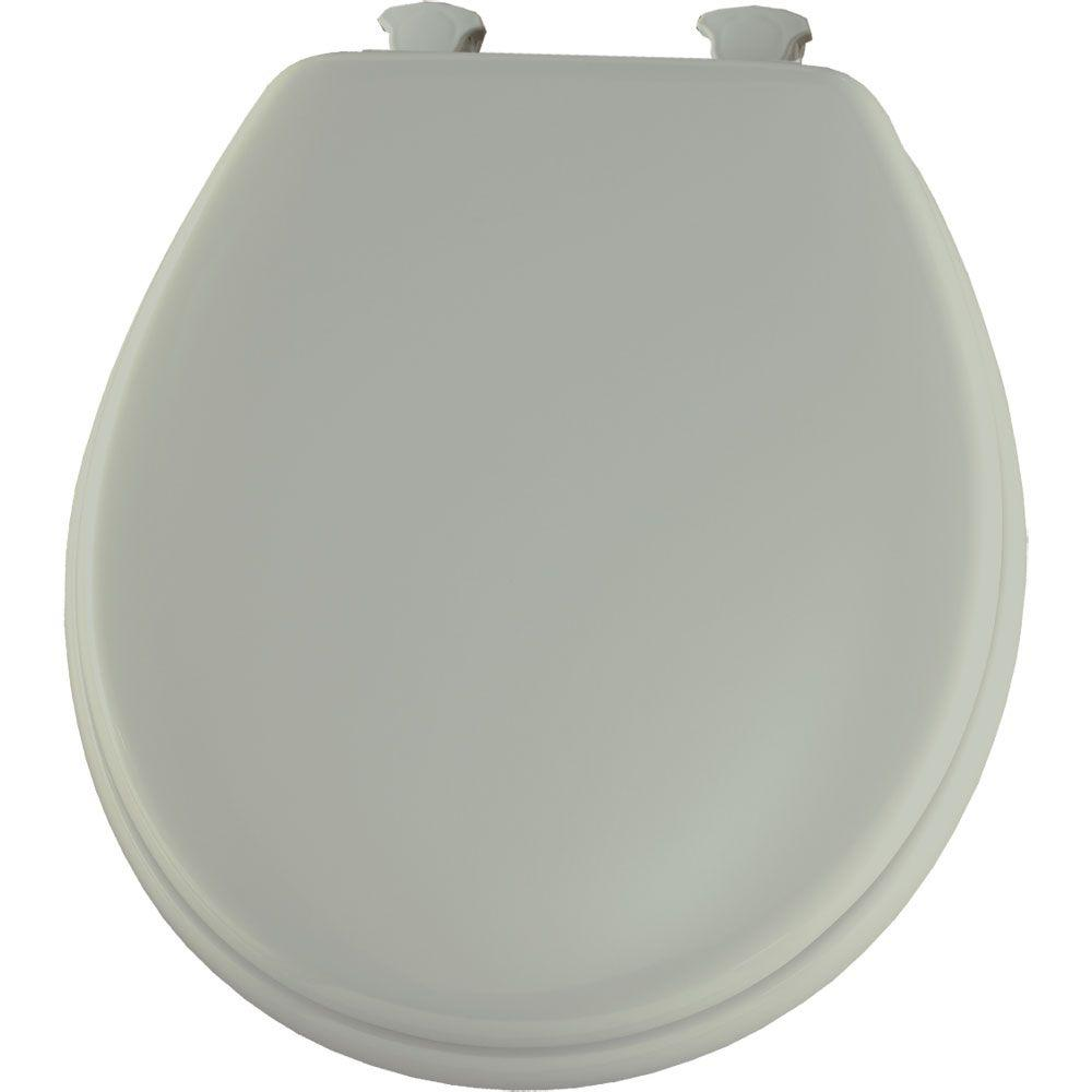 Bemis Round Closed Front Toilet Seat In Silver 450ec 162 The Home