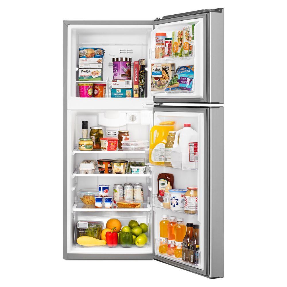 Whirlpool 10.7 cu. ft. Top Freezer Refrigerator in Monochromatic ...
