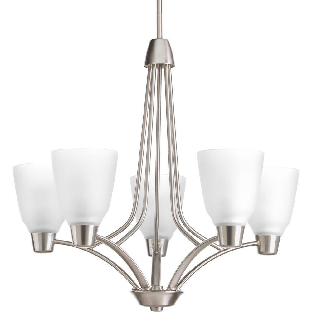 Progress Lighting Asset Collection 5-Light Brushed Nickel Chandelier