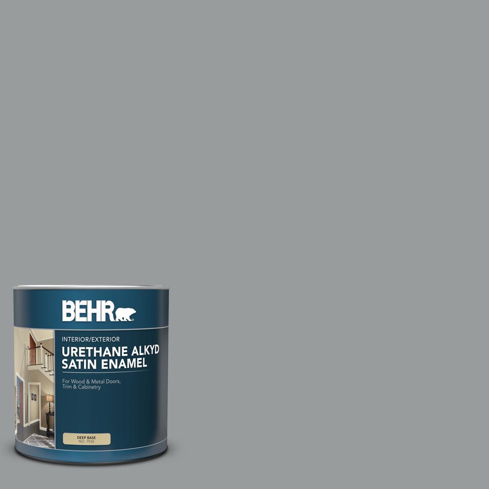 1 qt  #AE-51 Coast Guard Gray Satin Enamel Urethane Alkyd Interior/Exterior  Paint