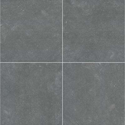 Vulkon Nero 24 in. x 24 in. Porcelain Paver Floor and Wall Tile (14 pieces / 56 sq. ft. / pallet)