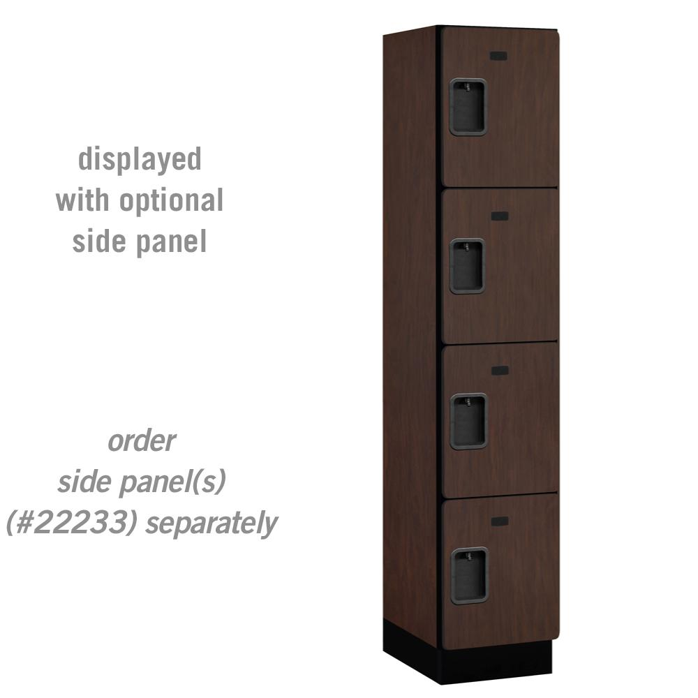 Salsbury Industries 24000 Series 4 Tier 18 in. D Compartments Extra Wide Designer Wood Locker in Mahogany