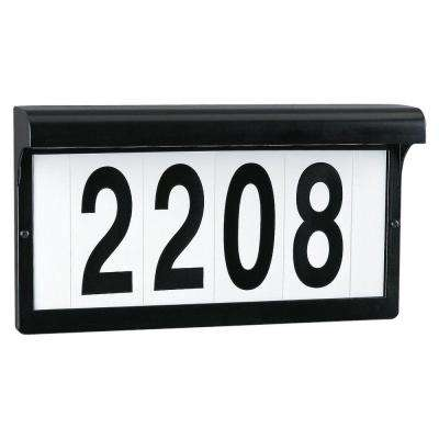 Black Powdercoat Aluminum Address Sign Light Fixture