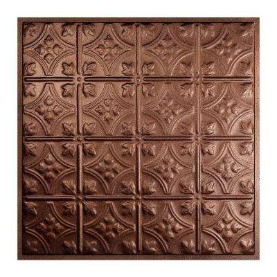 Hamilton 2 ft. x 2 ft. Lay-in Tin Ceiling Tile in Penny Vein