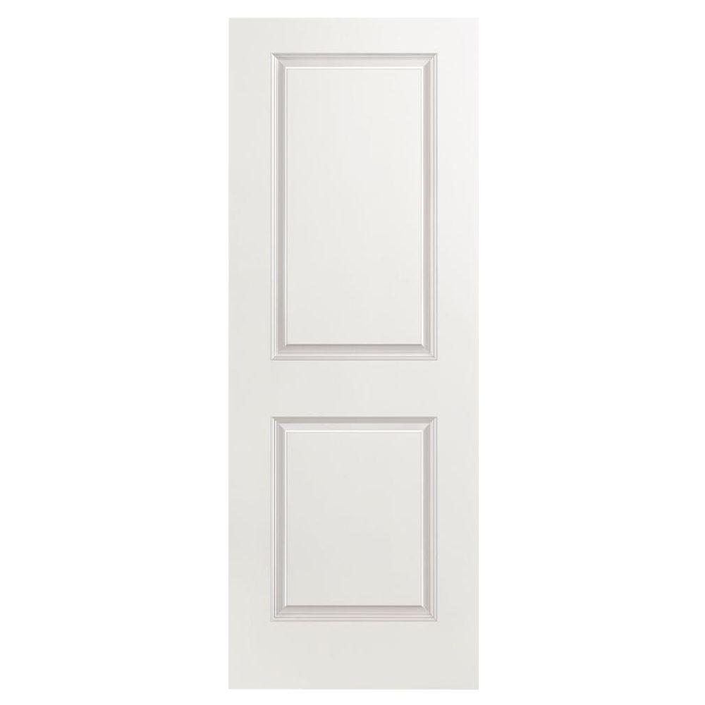 24 in. x 80 in. Smooth 2-Panel Square Hollow Core Primed