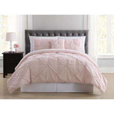 Arrow Pleated Blush Queen Bed in a Bag
