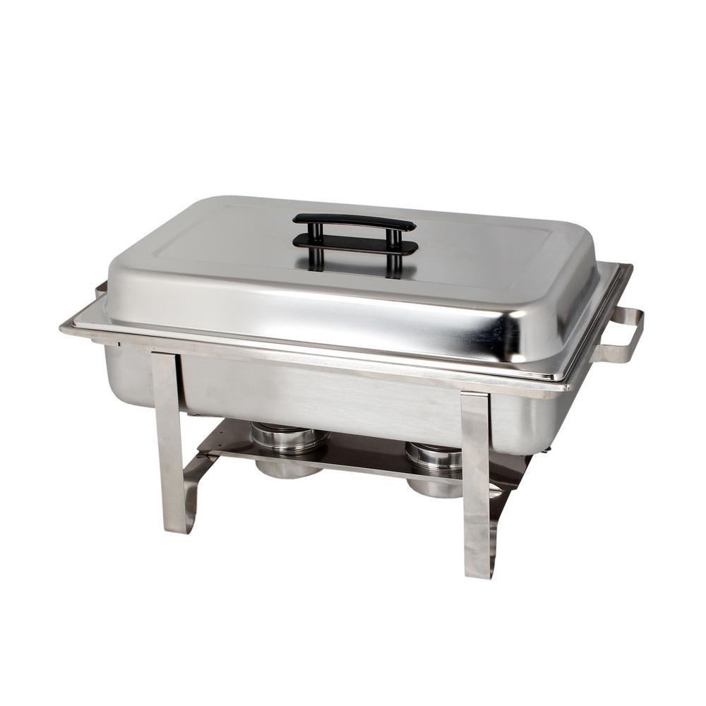 Restaurant Essentials Stainless Steel 8 Qt. Full Size Welded Chafer Set