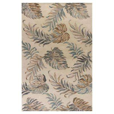 Palm Tropic Ivory 3 ft. 3 in. x 5 ft. 3 in. Area Rug