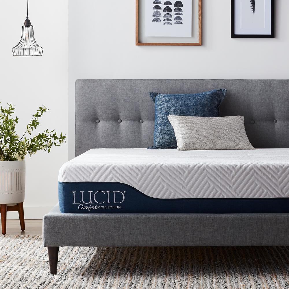 Lucid Comfort Collection 10 in. Twin Gel and Aloe Vera Hybrid Memory Foam Mattress