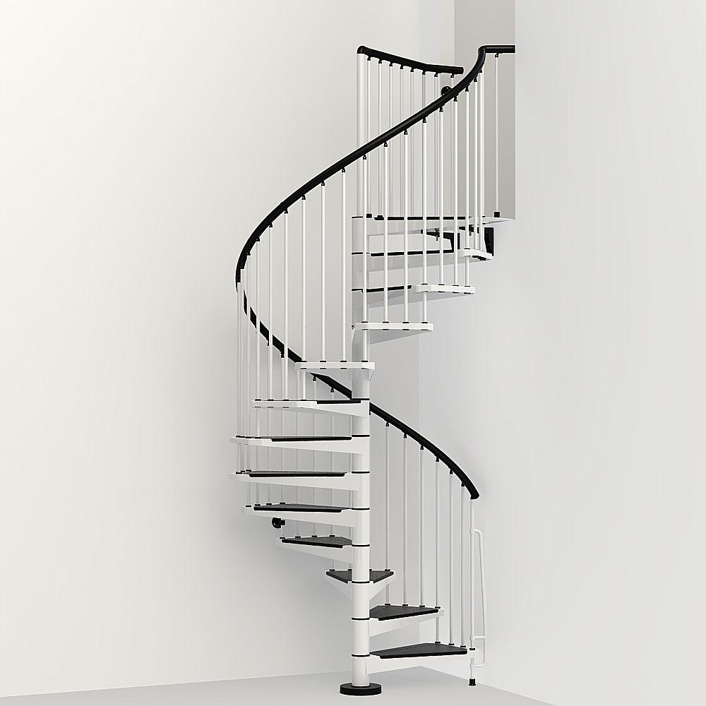 Arke Civik 63 In White Spiral Staircase Kit K03006 The