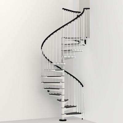 Civik 63 in. White Spiral Staircase Kit
