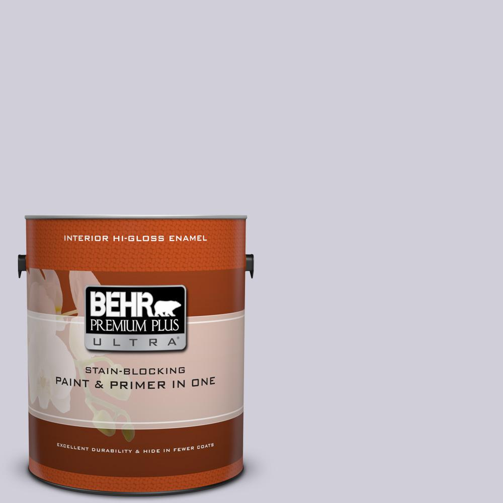 1 gal. #660E-2 Purple Essence Hi-Gloss Enamel Interior Paint