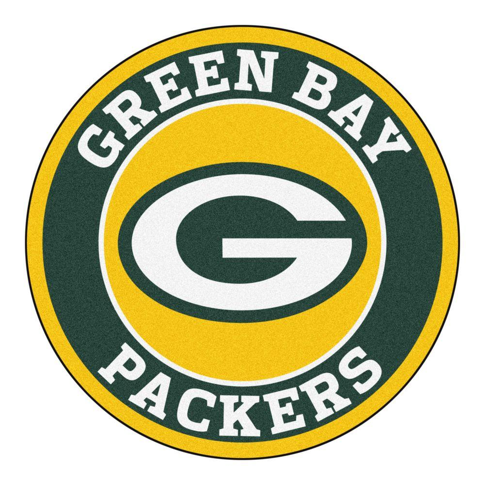 Fanmats Nfl Green Bay Packers Green 2 Ft X 2 Ft Round