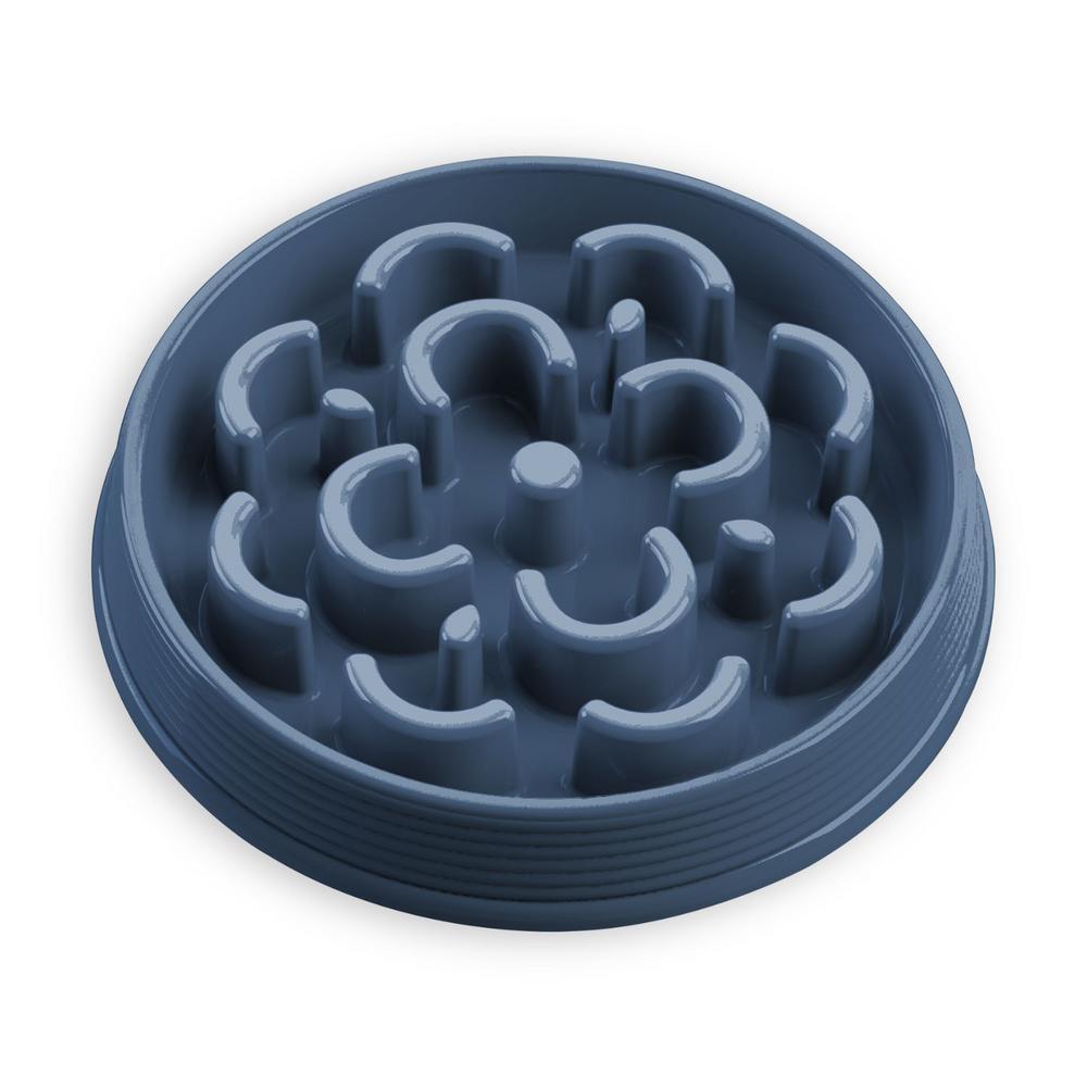 Slow Chow Medallion Medium Feeder in Blue