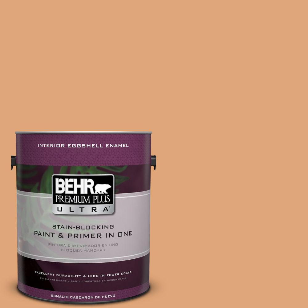 BEHR Premium Plus Ultra 1-gal. #280D-4 Caramel Sundae Eggshell Enamel Interior Paint