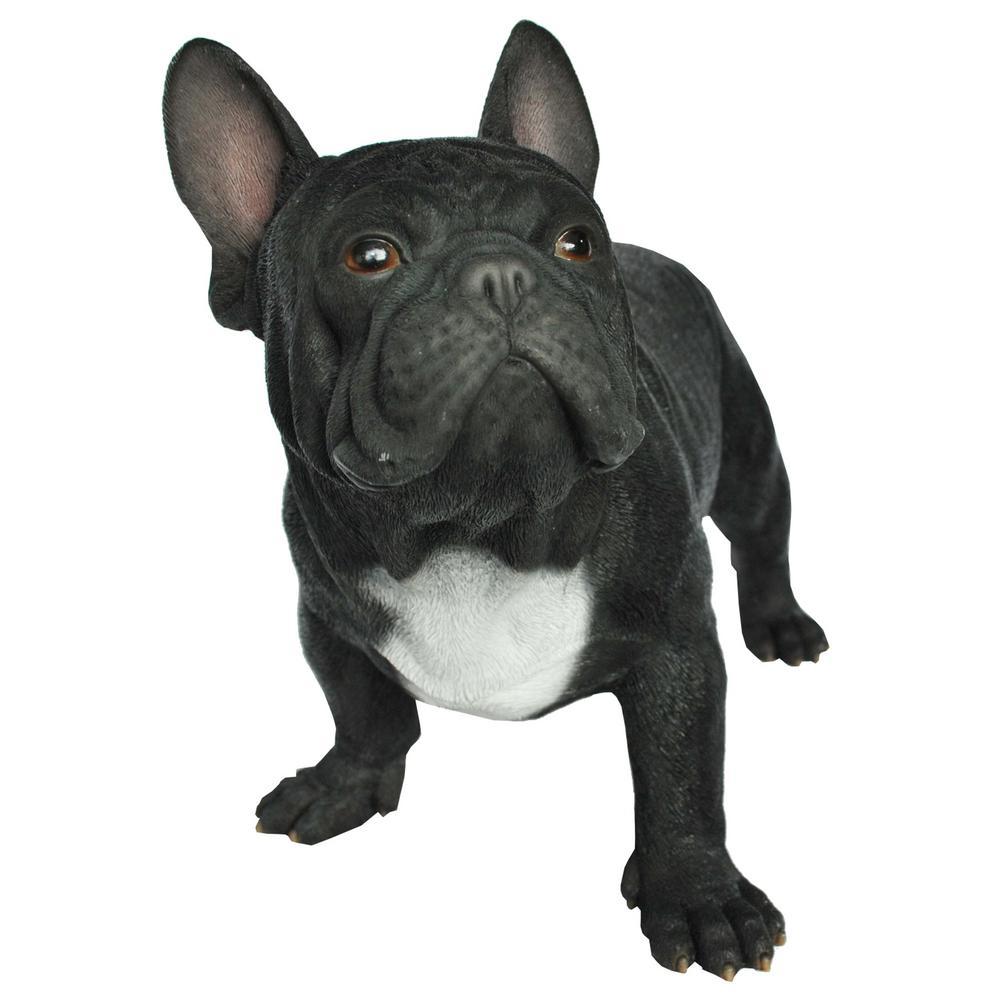 Black French Bulldog Statue