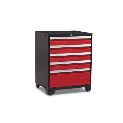 Pro 3.0 Series 28 in. W x 35.5 in. H x 22 in. D 18-Gauge Welded Steel 5-Drawer Tool Cabinet in Red