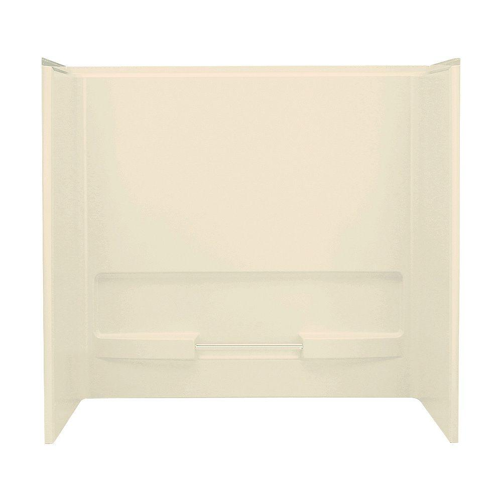 STERLING Advantage 30 in. x 60 in. x 56-1/4 in. Three Piece Direct-to-Stud Tub/Shower Wall Kit in Almond-DISCONTINUED