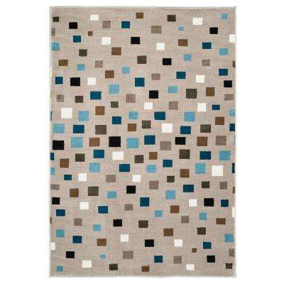 Whimsical Light Blue 3 ft. 6 in. x 5 ft. 6 in. Indoor Area Rug