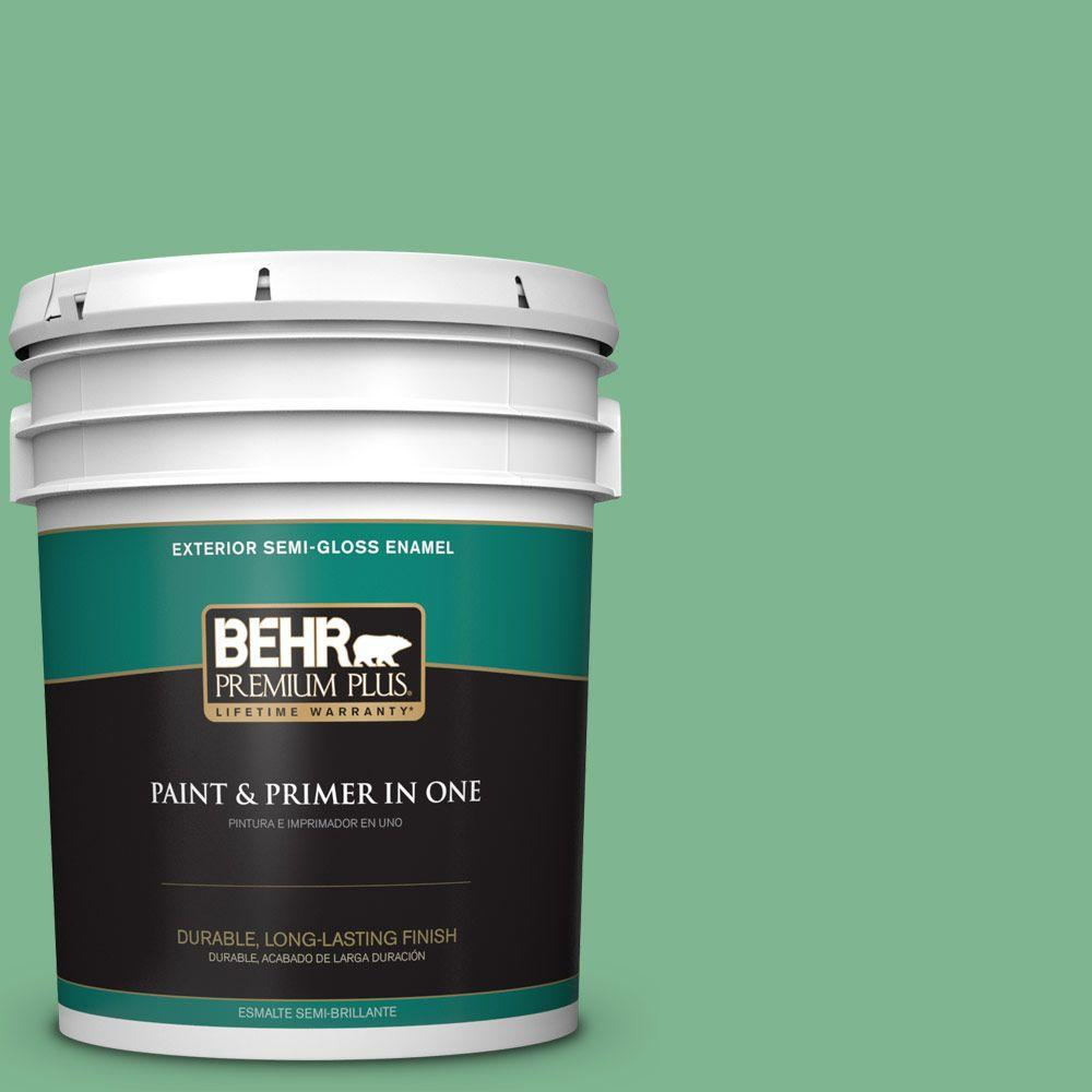 5-gal. #BIC-40 Veiled Chameleon Semi-Gloss Enamel Exterior Paint