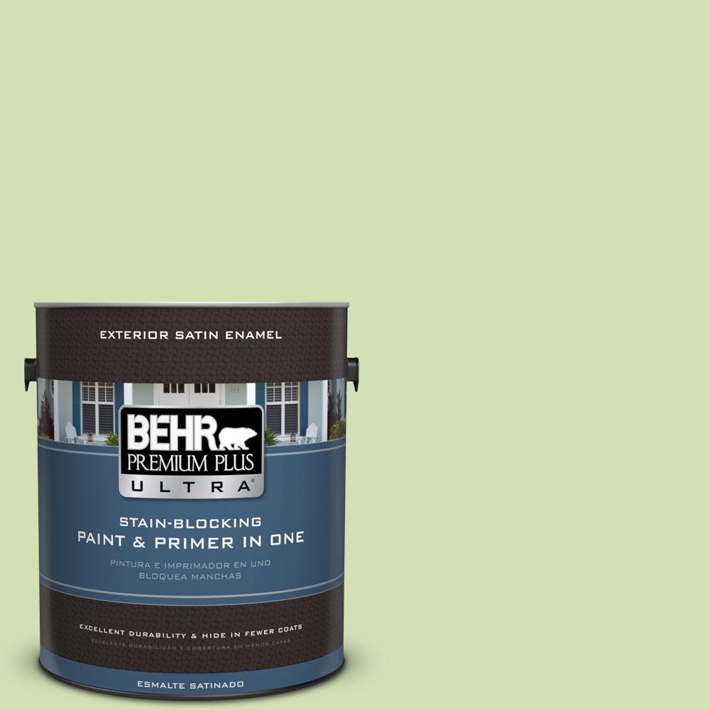BEHR Premium Plus Ultra 1-gal. #420C-3 Celery Bunch Satin Enamel Exterior Paint