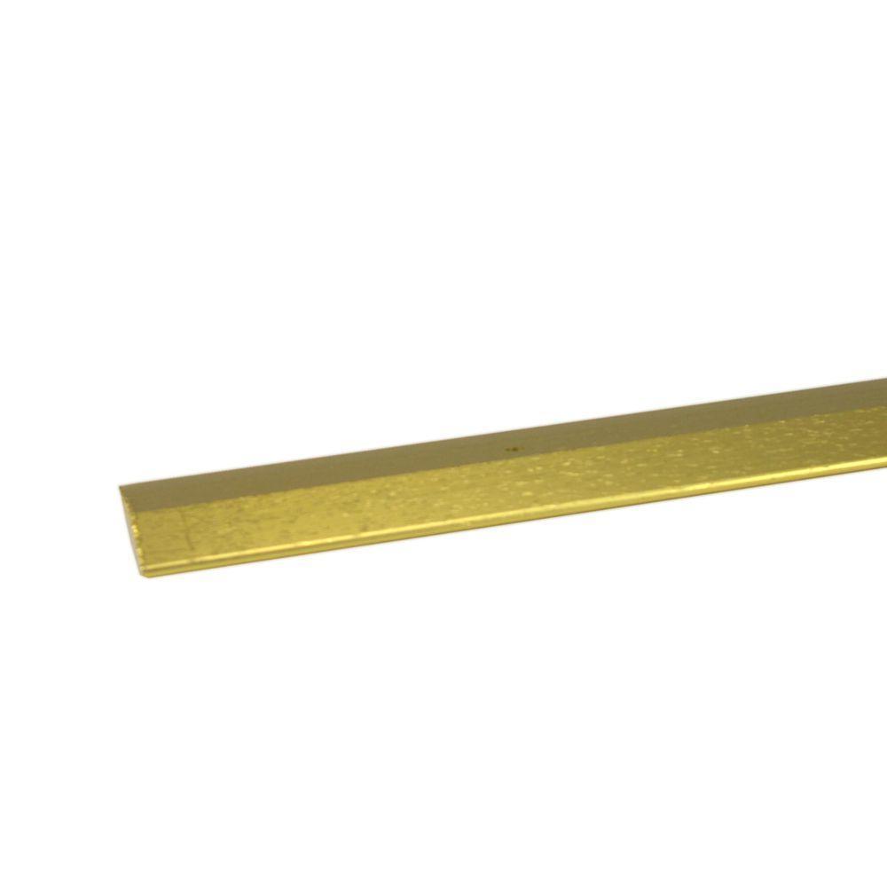 M-D Building Products 1-3/8 x 144 in. Carpet Trim-Brass (12-Pack)