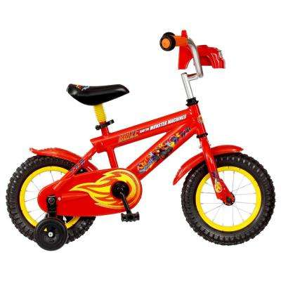 12 in. Boys Bike Ages: 2-Year to 4-Years in Red with Off RoadKlooking Training Wheels