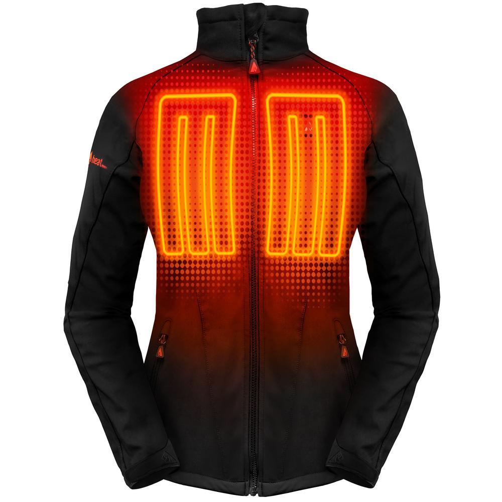 Women's Small Black Softshell 5-Volt Heated Jacket