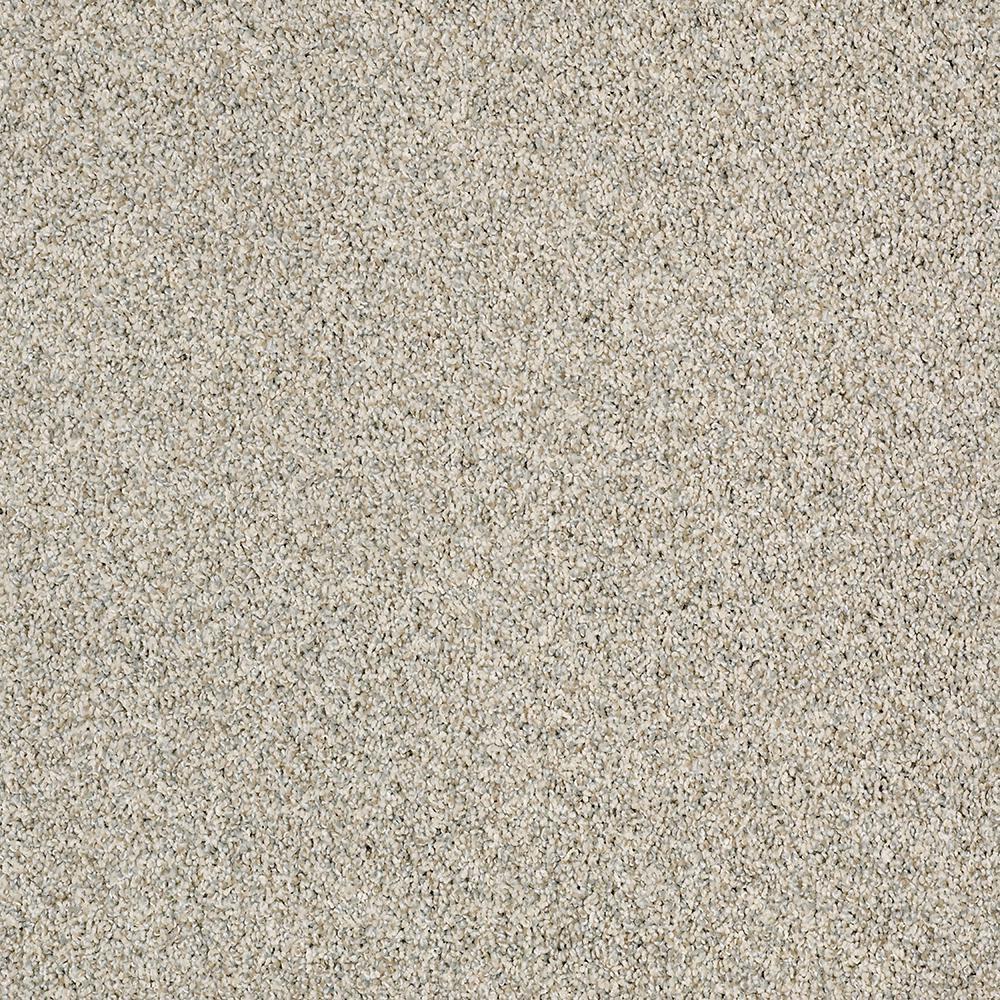 Carpet Sample - Bonanza I - Color Shell Walk Twist 8 in. x 8 in.