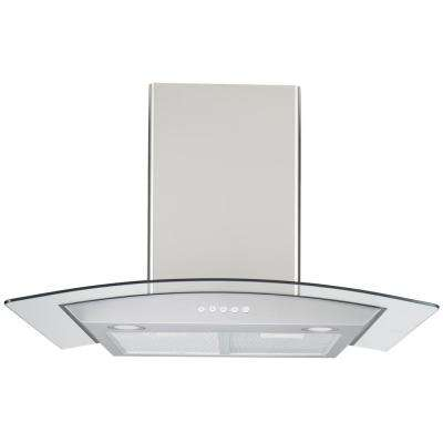30 in. Wall-Mount Range Hood in Stainless Steel with Tempered Glass and LED Lighting