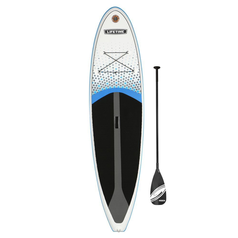 Tidal 132 in. White PVC Inflatable Stand Up Paddle-Board and Paddle