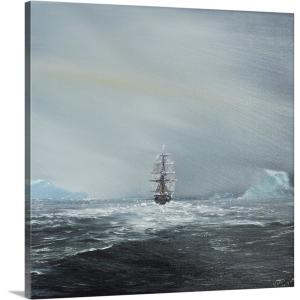 """""""Discovery, Captain Scott and crew en route to Antarctica, 2014"""" by Vincent Alexander Booth Canvas Wall Art"""