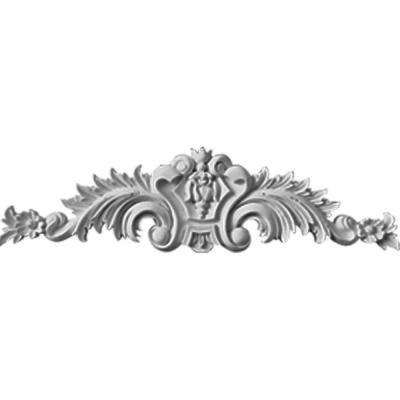 1-3/8 in. x 36-3/4 in. x 9-3/4 in. Polyurethane Large Scroll Center with Scrolls Moulding