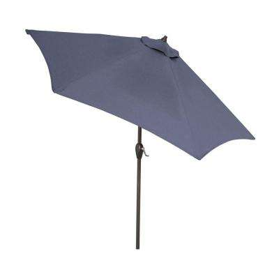 9 ft. Aluminum Patio Umbrella in Sky Blue with Push-Button Tilt