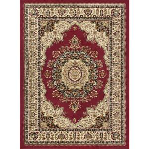 tayse rugs sensation red 11 ft x 15 ft transitional area rug sns4700 11x15 the home depot. Black Bedroom Furniture Sets. Home Design Ideas