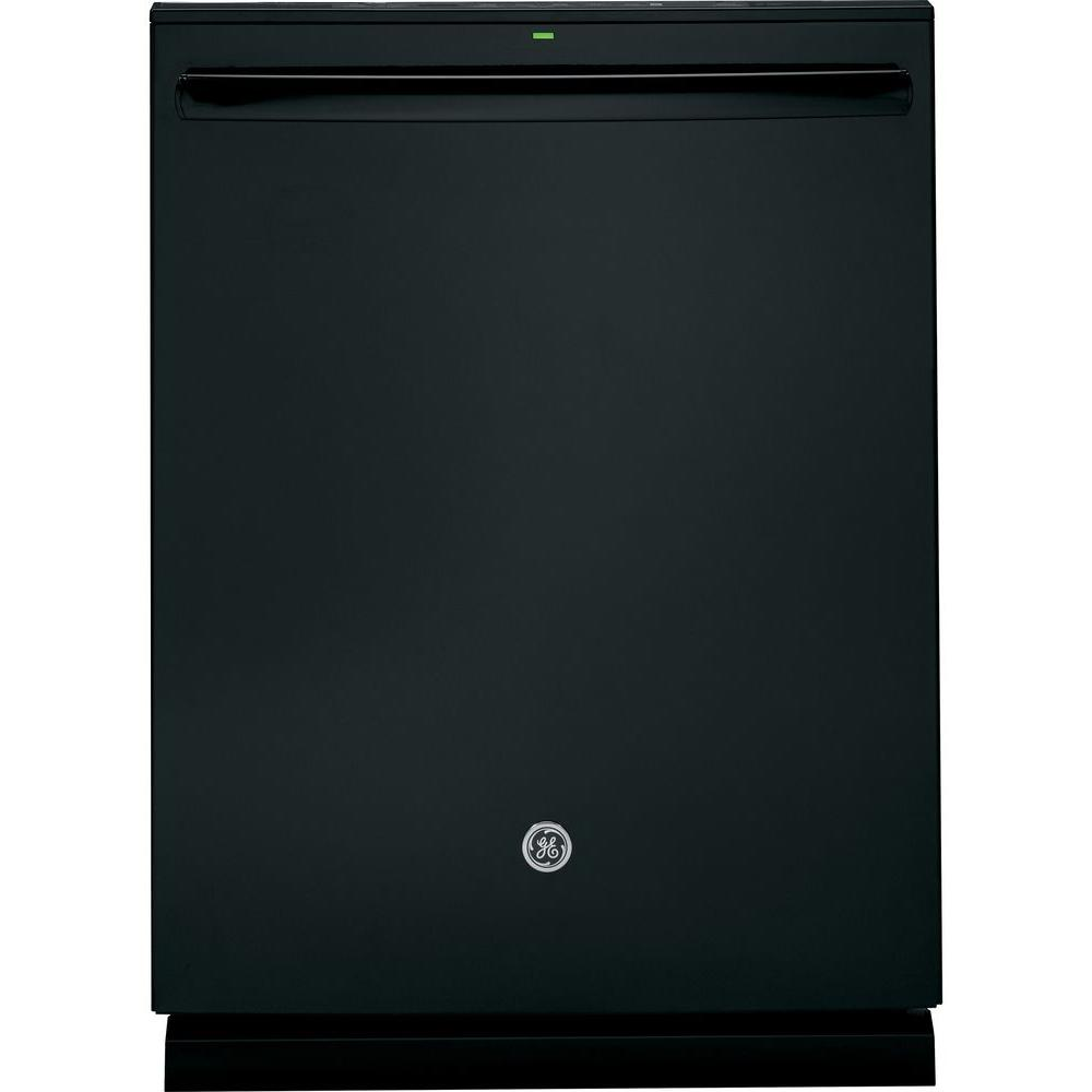 GE Adora Top Control Dishwasher in Black with Stainless Steel Tub and Steam PreWash