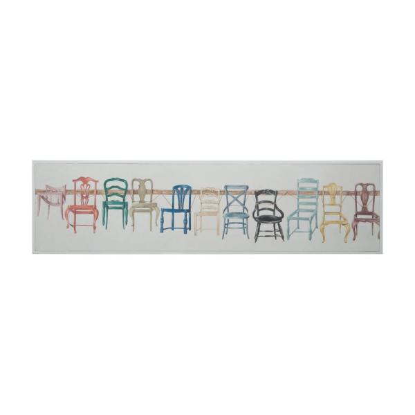 Titan Lighting 15 in. x 60 in. ''Chair Display'' Hand Painted