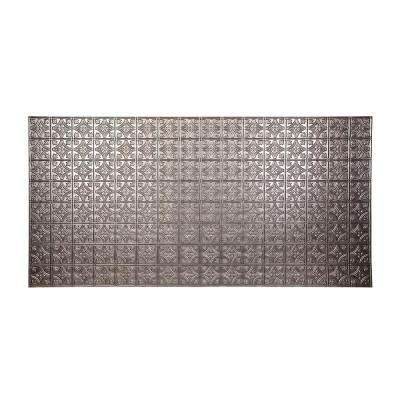 96 in. x 48 in. Traditional 1 Decorative Wall Panel in Crosshatch Silver